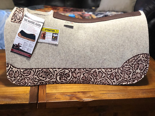 """5 Star The Barrel Racer 30x28 Natural Ivory 7/8"""" Pad"""