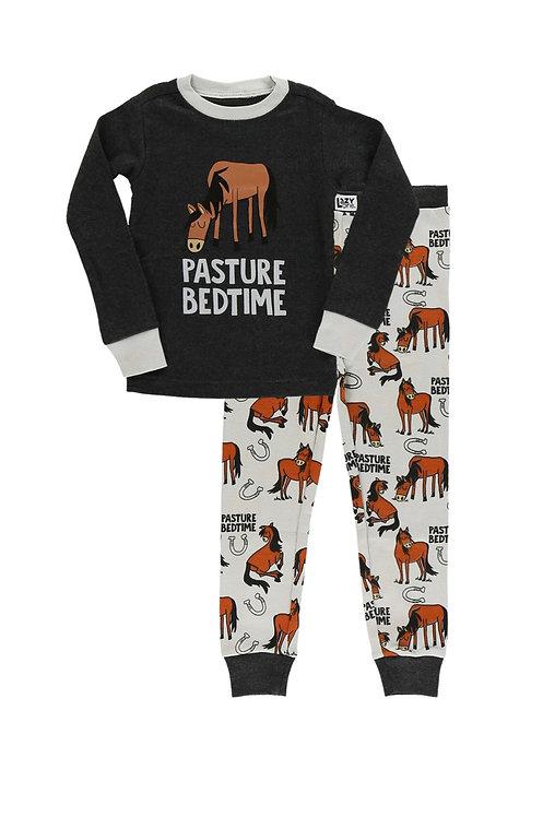 LazyOne Pasture Bedtime Grey Horse PJ Set