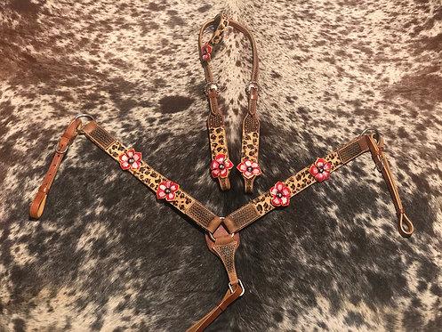 Cheetah Flower Tack Set