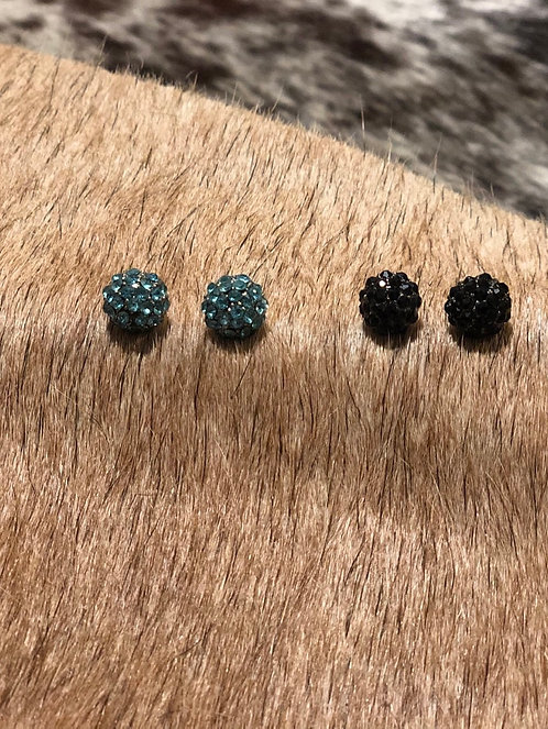 Colored Rhinestone Earrings
