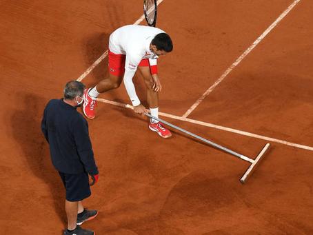 Djokovic se divirtió como canchero en su victoria contra Galán en Roland Garros