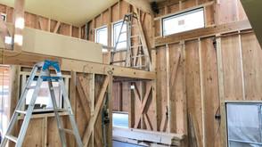 下地コンクリート打設(7層スキップフロアの家)