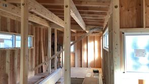 大工工事と屋根工事(深軒の家)