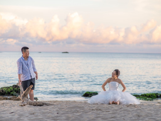 婚紗攝影:風車/沙灘/墾丁夕陽/繡球花