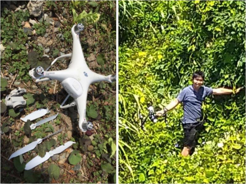 攝影團隊於空拍攝影服務時摔機意外