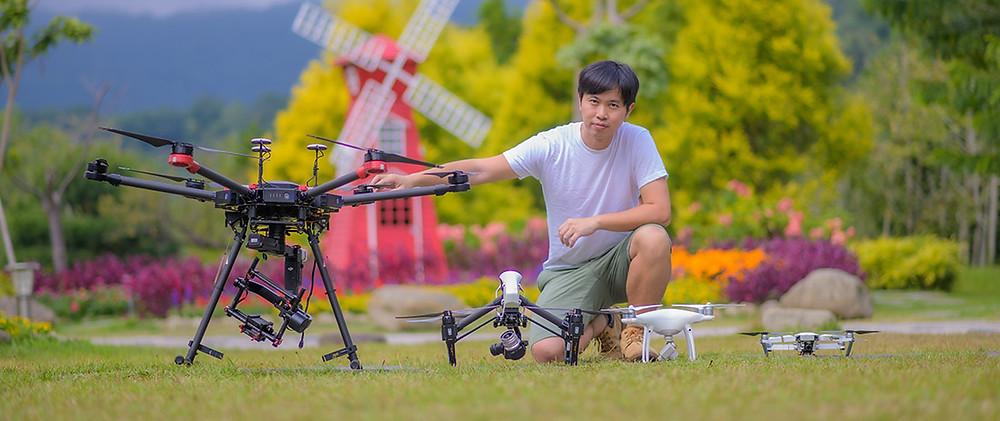 攝影師空拍攝影工作照