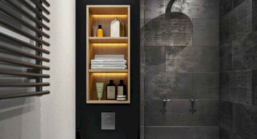 22.-Installing-Racks-Small-Bathroom-Remo