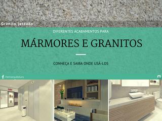 Diferentes acabamentos para mármores e granitos
