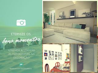 Aprenda a utilizar as fotografias na decoração.