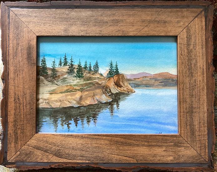 Watercolor Original of Madison River, Montana