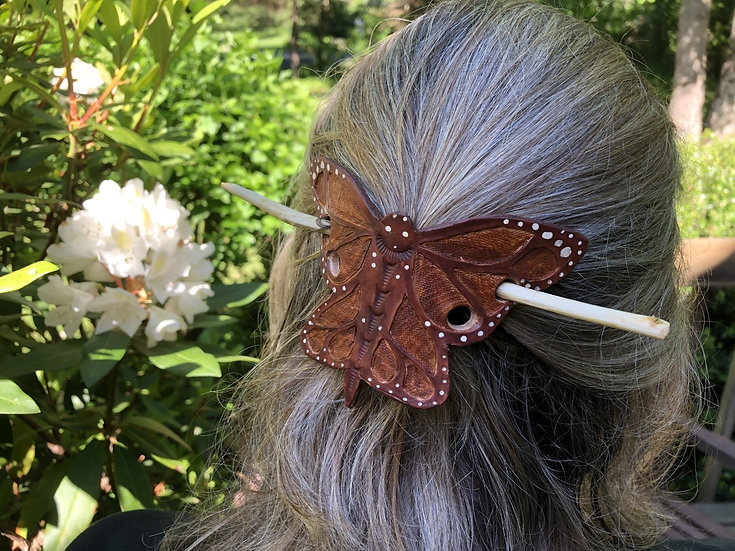 Butterfly Leather Barrette