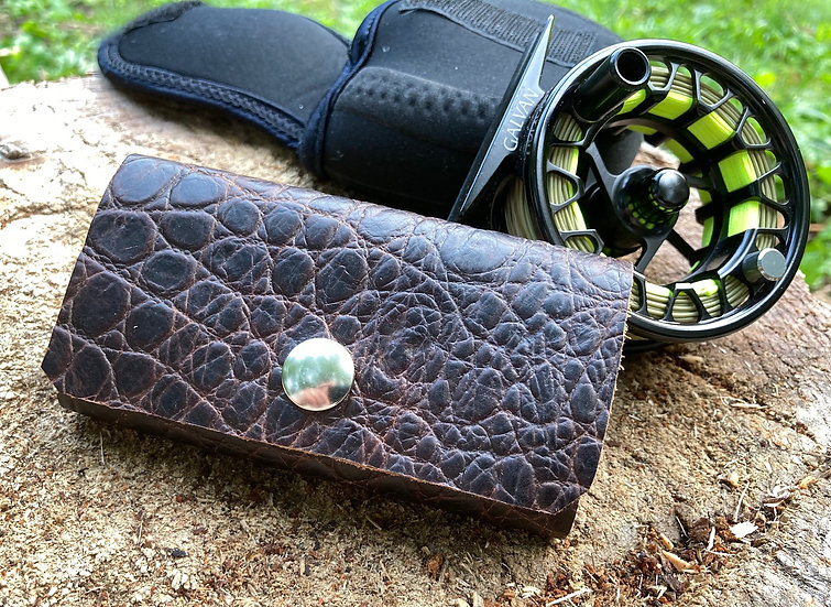 Mini Leather Fly Fishing Wallet