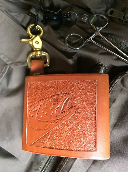 Fly Fishing Wallet with Brass Clasp