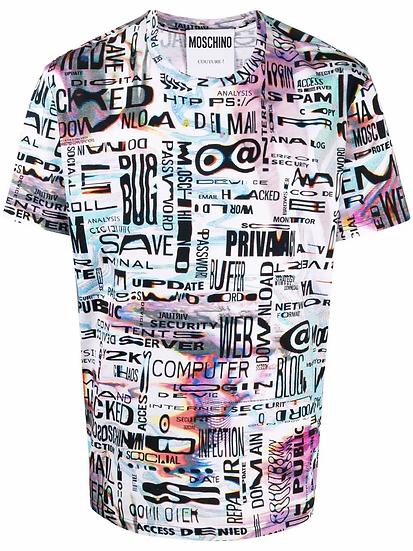 Moschino - camiseta  estampado gráfico