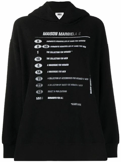 MM6 Maison Margiela - sudadera estampada
