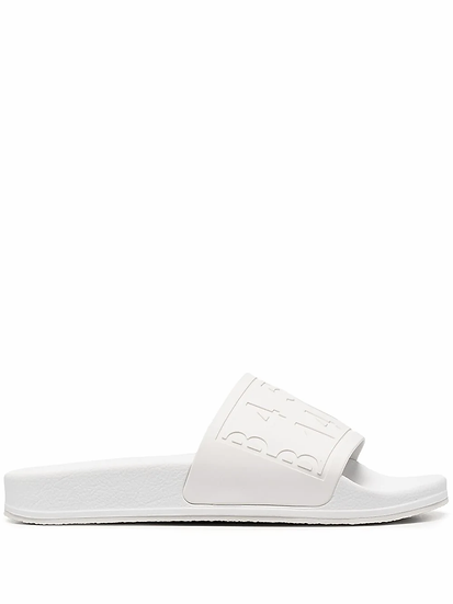 Embossed logo sandals