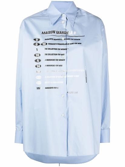 Long-sleeved printed shirt