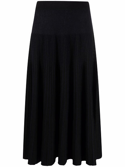 MM6 Maison Margiela - falda de punto fino con pliegues