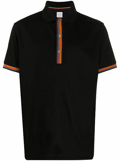 Paul Smith - striped trim polo shirt
