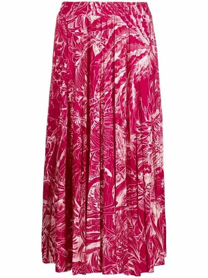 Red Valentino - falda motivo hojas