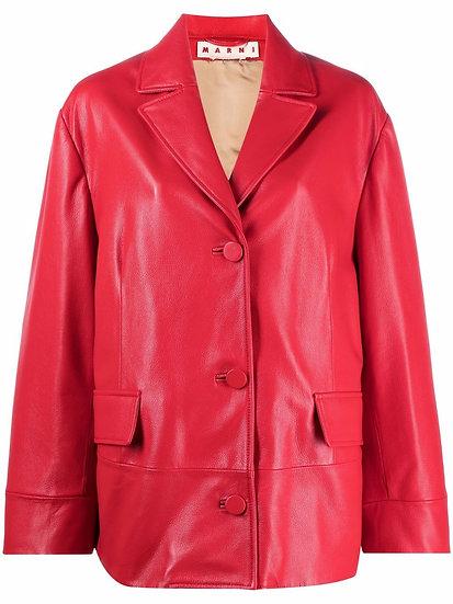 Marni - blazer piel roja