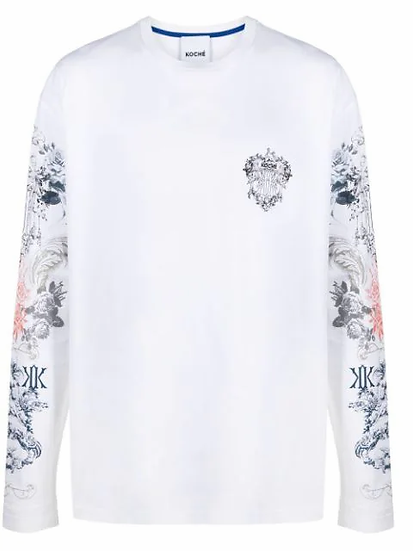 Koché - t-shirt motivo floral
