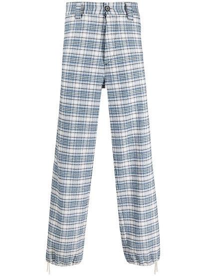 Marni - pantalones anchos a cuadros