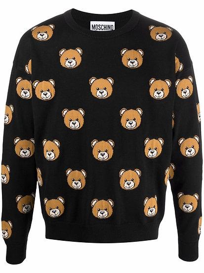Moschino - teddy bear print sweater