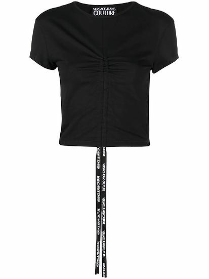 Versace Jeans Couture - t-shirt frontal fruncido