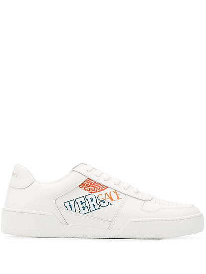 Versace - zapatillas con logo estampado