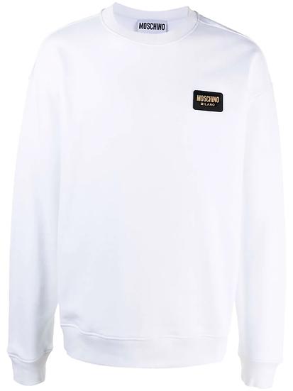 Moschino - badge sweatshirt