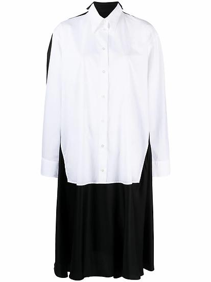 MM6 Maison Margiela - vestido camisero midi capas