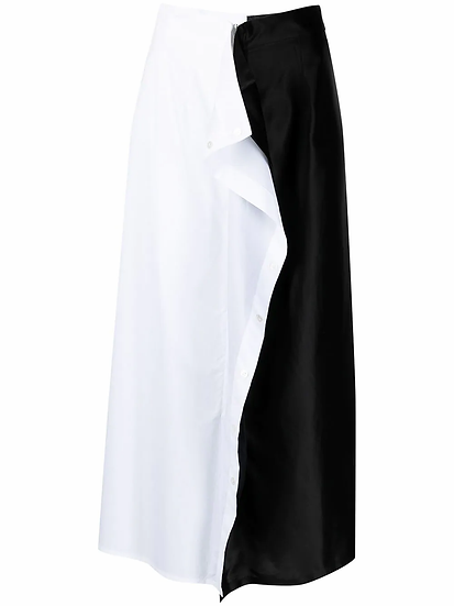 MM6 Maison Margiela - falda midi volantes