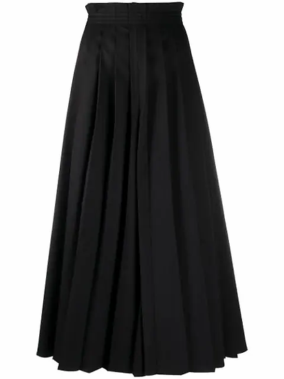 MM6 Maison Margiela - pantalón ancho pliegues