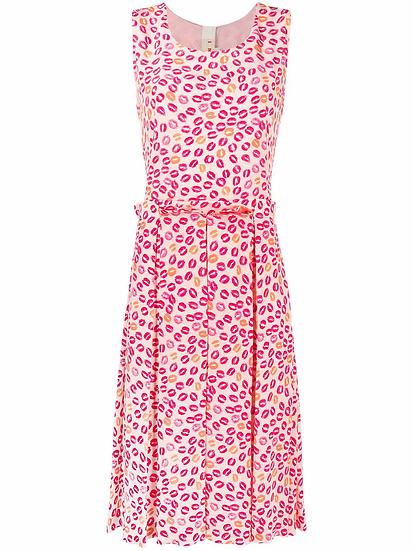 Lip motif dress