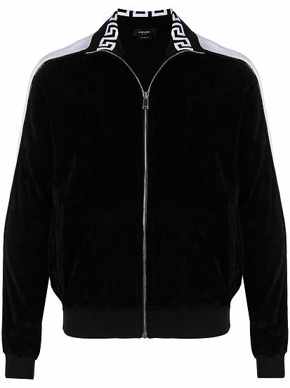 logo stripe track jacket