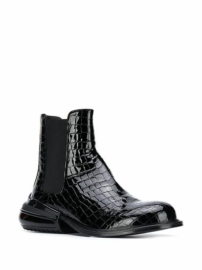 Maison Margiela - botas efecto piel de cocodrilo