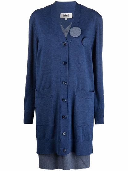 MM6 Maison Margiela - cardigan with safety pin detail