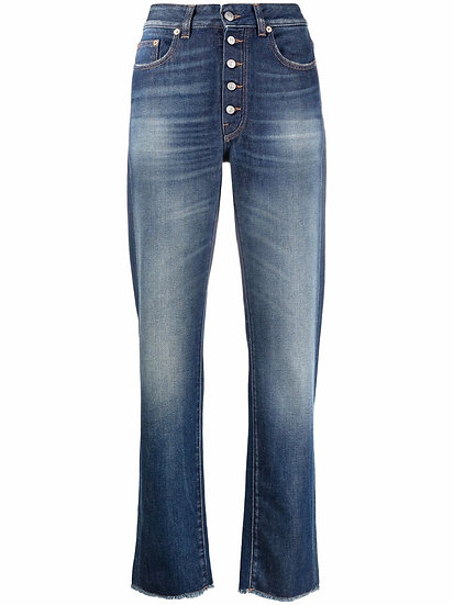 MM6 Maison Margiela - stonewashed straight leg jeans