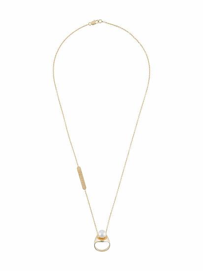 Maison Margiela - collar perlas logo