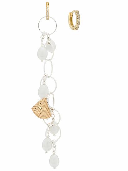 Apples & Figs - pendientes con colgante de perla