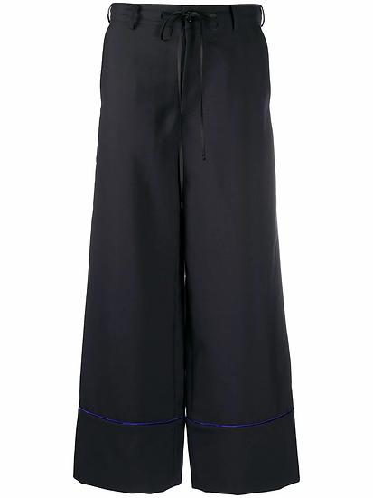 Wide leg pants with tie waist