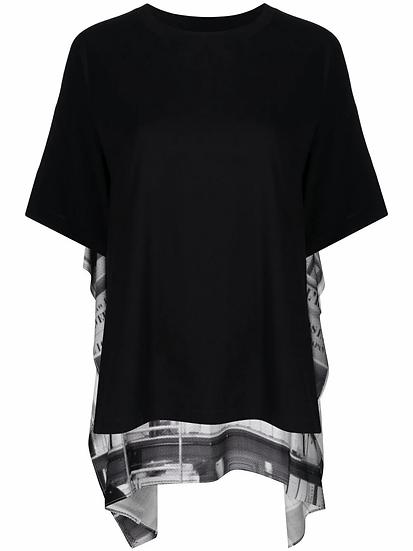 MM6 Maison Margiela - t-shirt printed layered