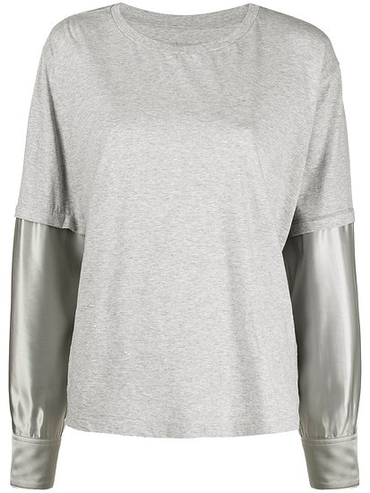 MM6 Maison Margiela - t-shirt manga larga a capas