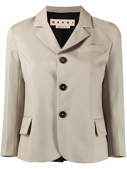 Marni - blazer espalda contraste