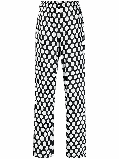 MM6 - pantalón anchos lunares