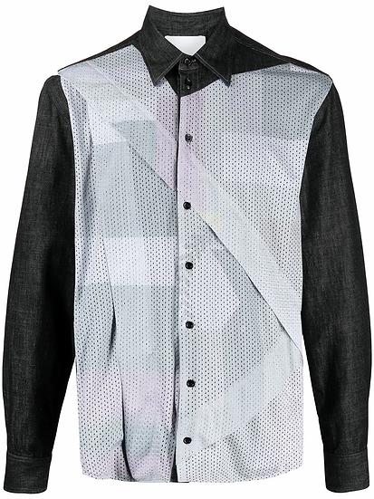Perforated panel shirt