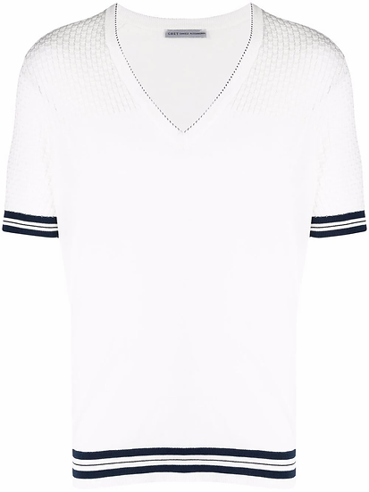 Daniele Alessandrini - t-shirt ribete rayas