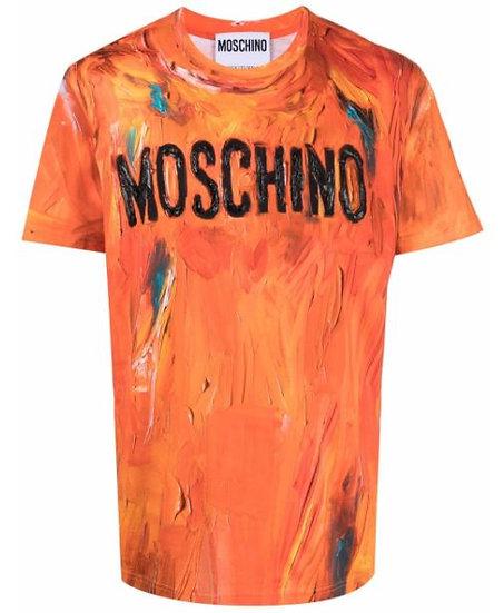 Moschino - camiseta con efecto de pintura