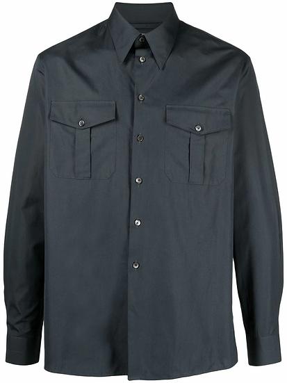 Lemaire - camisa con bolsillos con solapa